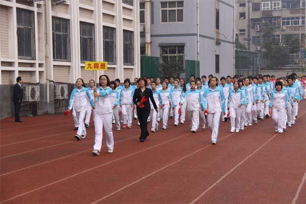 郑州市第七中学地址_2011运动会开幕式--郑州市第五中学